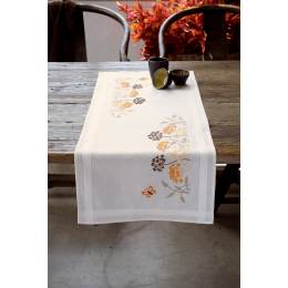 Kit chemin de table herbes oranges avec papillons - 4