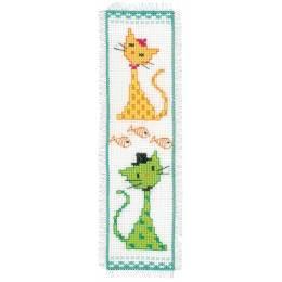 Kit marque-page chat jaune et vert - 4