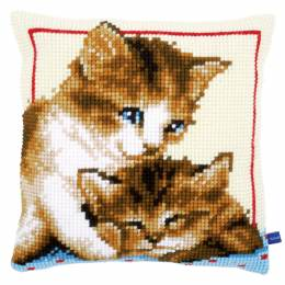 Coussin au point de croix playful kittens - 4