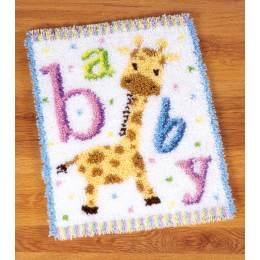 Tapis kit au point noué bébé girafe - 4
