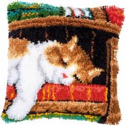 Kit coussin au point noué chat dormant - 4
