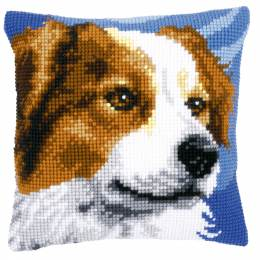 Coussin au point de croix border collie - 4