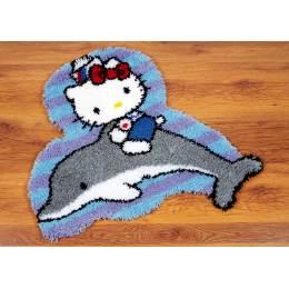 Kit tapis modelé au point noué hello kitty dauphin - 4
