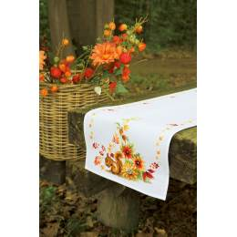 Chemin de table aïda ecureuil en automne - 4