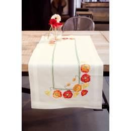 Kit chemin de table coquelicots - 4