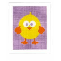 Kit tapisserie poussin jaune - 4