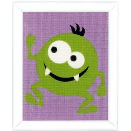 Kit tapisserie petit monstre vert - 4