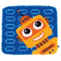Kit tapis modelé au point noué drôle de robot - 4
