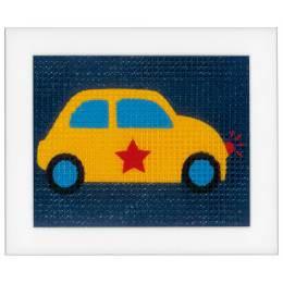 Kit tapisserie voiture jaune - 4