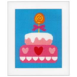 Kit tapisserie gâteau d'anniversaire - 4