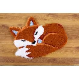 Tapis kit au point noué renard dormant - 4