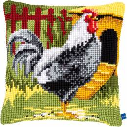 Kit coussin point de croix black rooster - 4