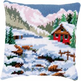 Kit coussin point de croix winter scenery - 4
