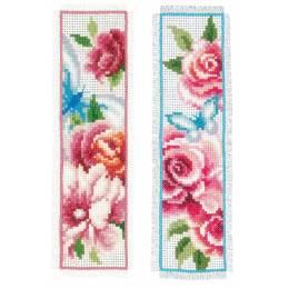 Marque-page fleurs et papillons i aida lot d 2 - 4
