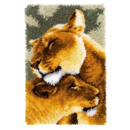 Tapis kit au point noué lion friendship - 4