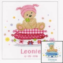 Kit naissance point cpté ours sur l'oreiller aida - 4