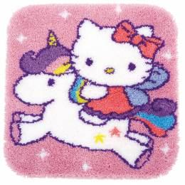Tapis kit au point noué kitty et licorne - 4