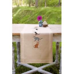 Chemin de table chats espiègles - 4