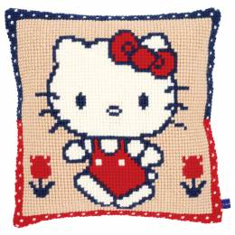Kit coussin au point de croix hello kitty enmarche - 4