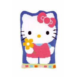 Kit coussin modelé au point de croix hello kitty - 4