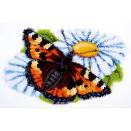 Tapis kit au point noué papillon sur marguerit - 4