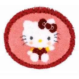 Kit tapis modelé au point noué hello kitty  - 4