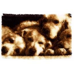 Tapis kit au point noué chien dormant - 4