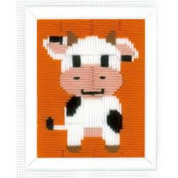 Canevas d'enfants (point lancé) vache - 4