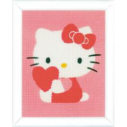 Kit tapisserie Hello Kitty avec un coeur - 4