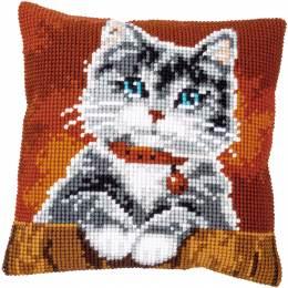 Kit coussin au point de croix chat avec collier - 4