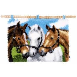 Tapis kit au point noué chevaux - 4