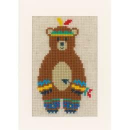 Kit carte ours indien lot de 3 - 4