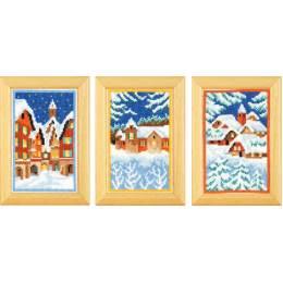 Miniatures nuit d'hiver aida lot de 3 - 4