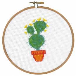 Kit au point compté avec cerceau cactus - 4