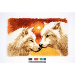 Tapis kit au point noué 2 loups - 4