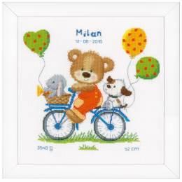 Kit au point compté ours en vélo aida - 4