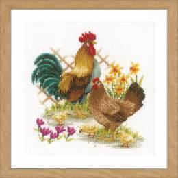 Kit au point compté famille de poules - 4