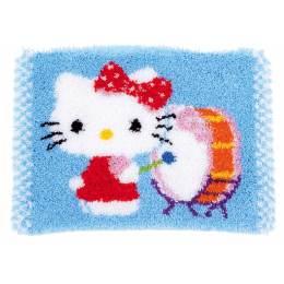 Tapis kit au point noué hello kitty avec tambour - 4