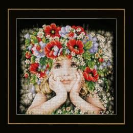 Kit au point compté fille avec des fleurs - 4