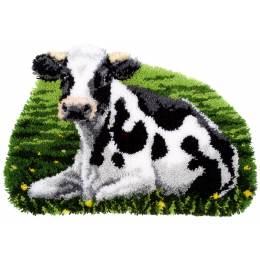 Tapis kit au point noué vache au repos - 4