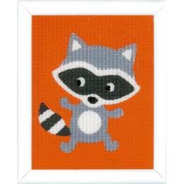 Kit tapisserie raton laveur - 4