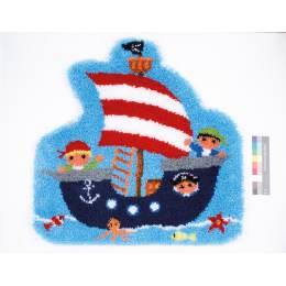 Tapis kit au point noué bateau pirate - 4