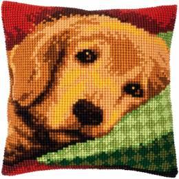 Kit coussin au point de croix petit chien endormi - 4