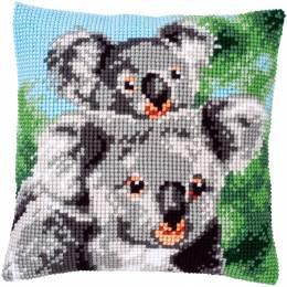 Kit coussin au point de croix koala avec bébé - 4