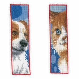 Marque-pagechat & chien lot de 2 - 4