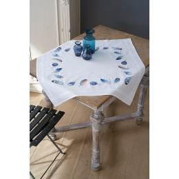 Kit nappe plumes bleues - 4