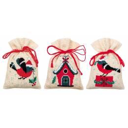 Bag kit christmas bird and house set de 3 - 4