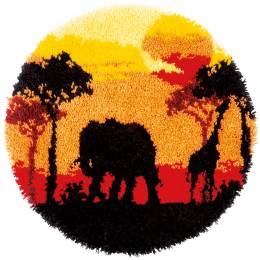 Kit tapis modelé au point noué afrique - 4