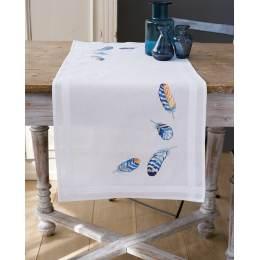 Kit chemin de table plumes bleues - 4