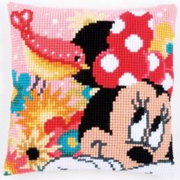 Coussin au point d croix Disney minnie a un secret - 4